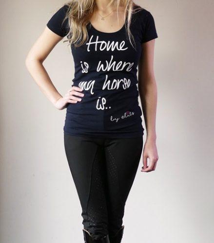Quote shirt Blauw