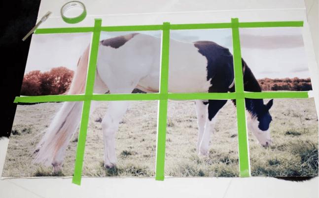 DIY wanddecoratie paard